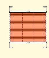 Bild - VS2 - Plissee mit zwei Bediengriffen